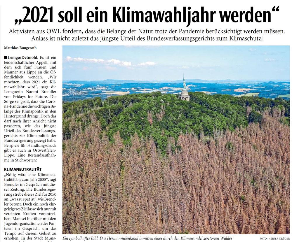 2021 soll ein Klimawahljahr werden